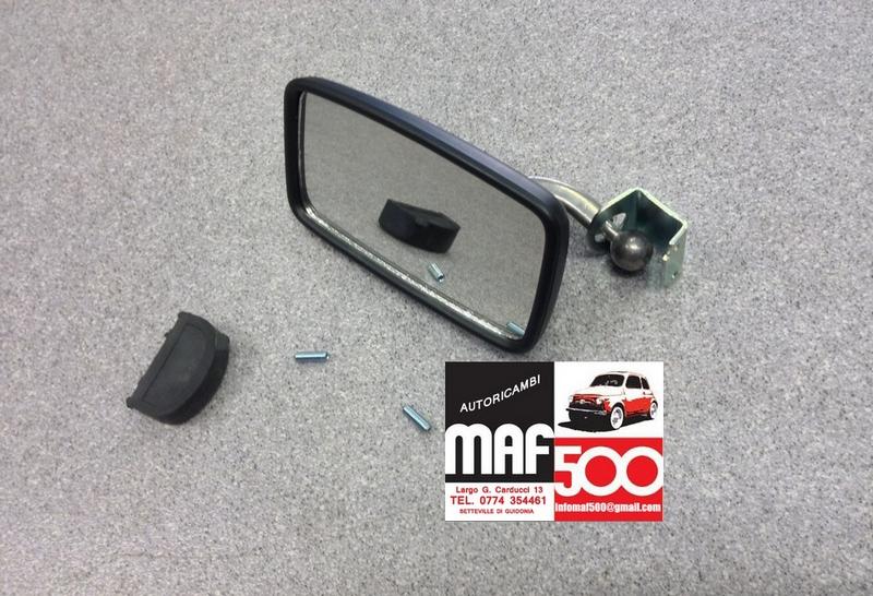 Specchio retrovisore rettangolare fissaggio a morsetto for 500 esterno