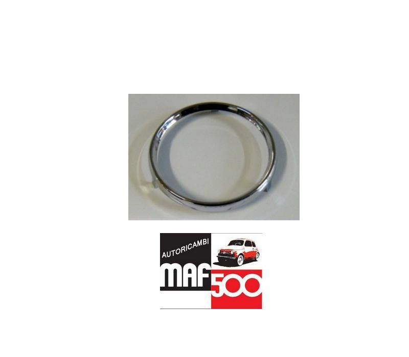 Chromring Tacho speedo bezel cornice cromata tachimetro Classic Fiat 500 N,D
