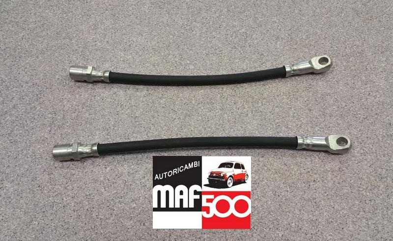 500F 1a serie COPPIA TUBI FLESSIBILI FRENO POSTERIORI FIAT 500 D