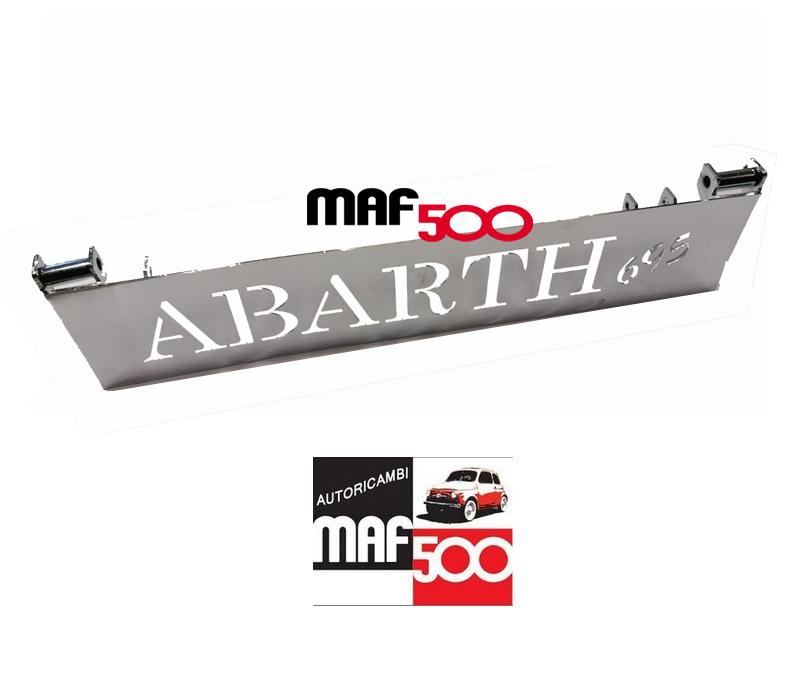 FIAT 500 F//L//R ALZACOFANO MOTORE CROMATO ALZA COFANO CON SCRITTA ABARTH 695
